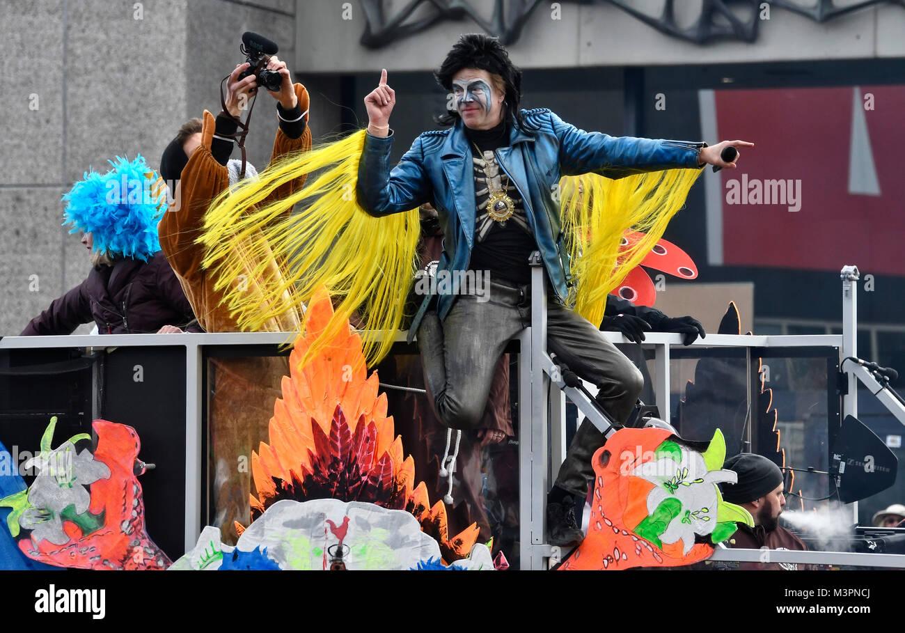 Duesseldorf, Germany. 12th February, 2018. Carneval, Rose Monday Parade: Duesseldorf Punk Rock Band Die Toten Hosen Stock Photo