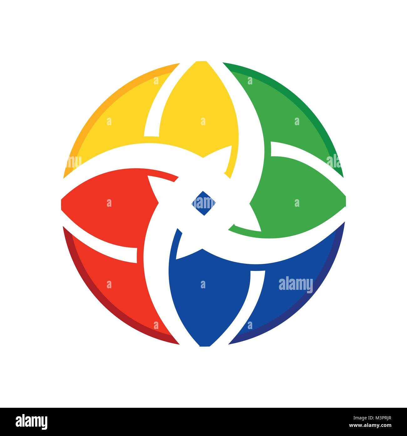 Flower Harmony Of Diversity Symbol Vector Graphic Logo