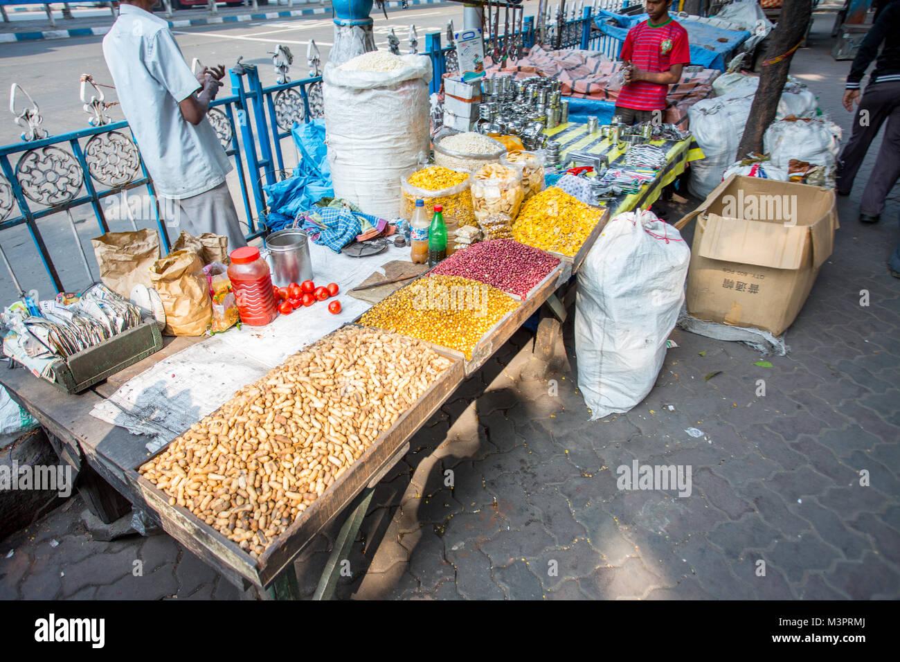 A Market Stall in Kolkata, India - Stock Image