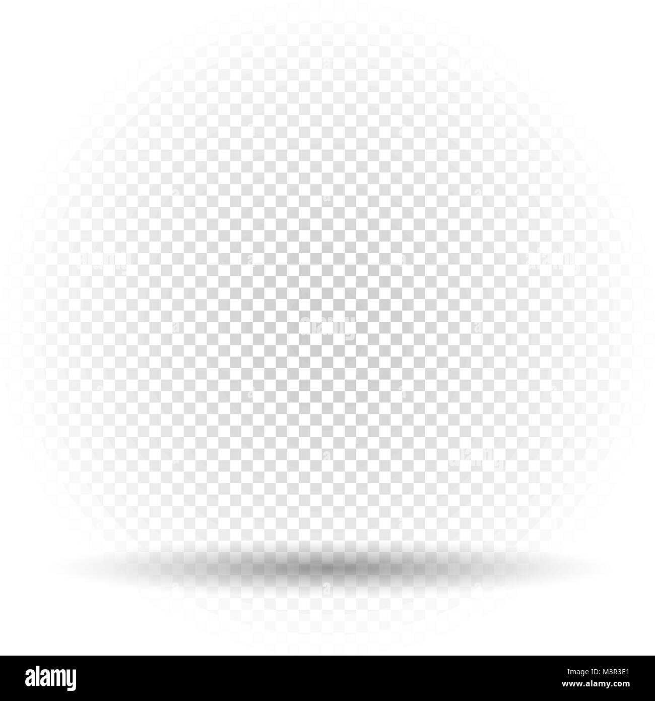 white transparent template with shadow - Stock Vector
