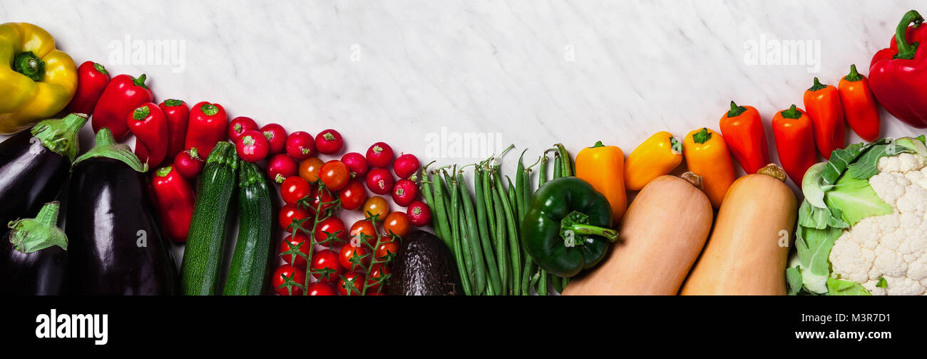 Banner Organic Food Background Food Photography Different Fruits Stock Photo Alamy