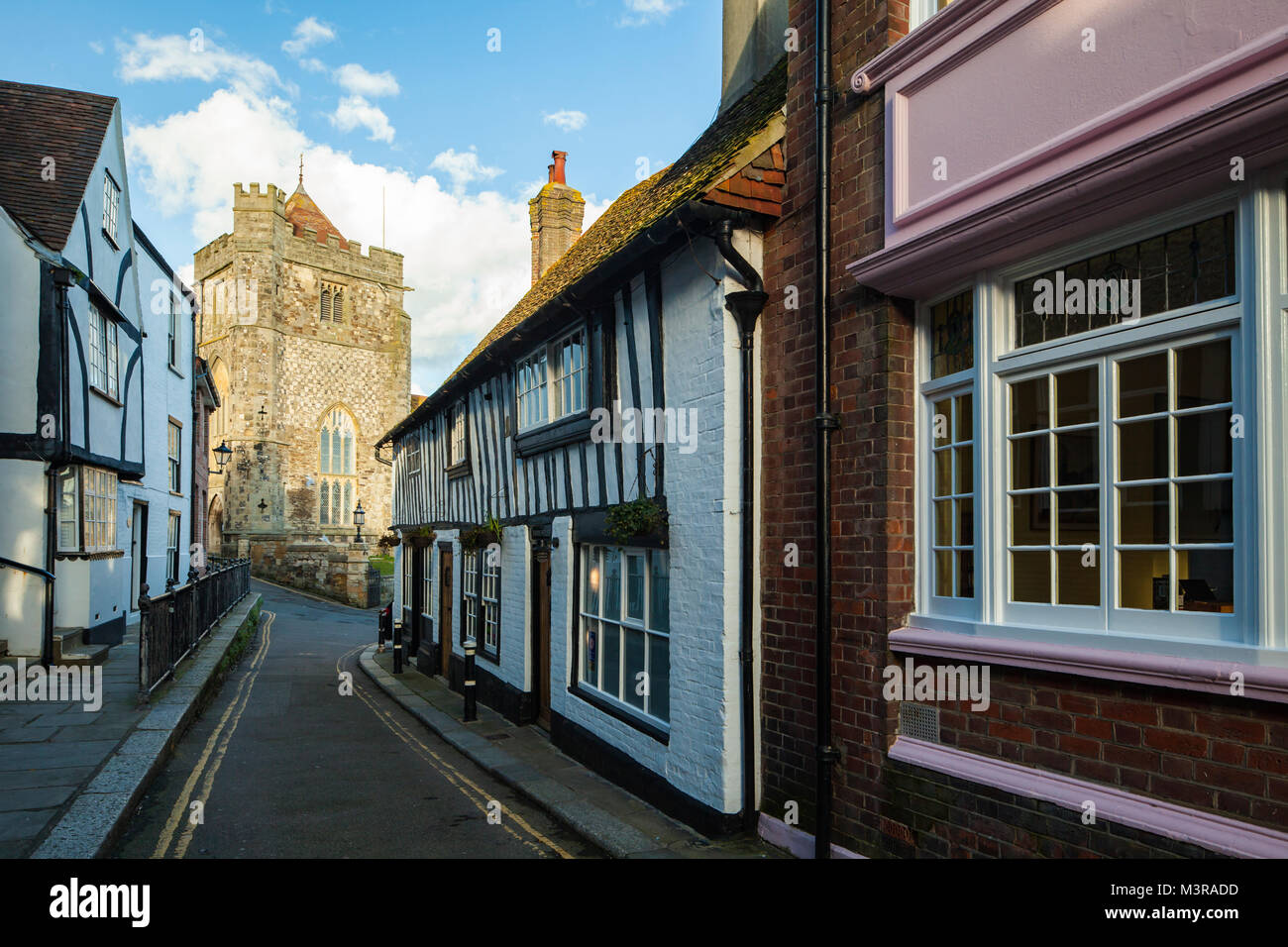Hastings old town, East Sussex, UK. - Stock Image