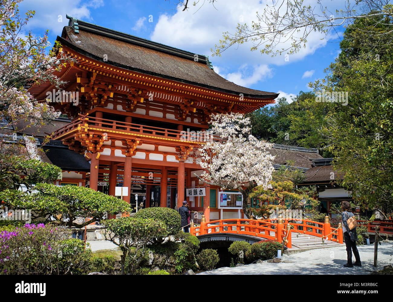 Japan, Honshu island, Kansai, Kyoto, the Kamigamo jinja sanctuary. Stock Photo