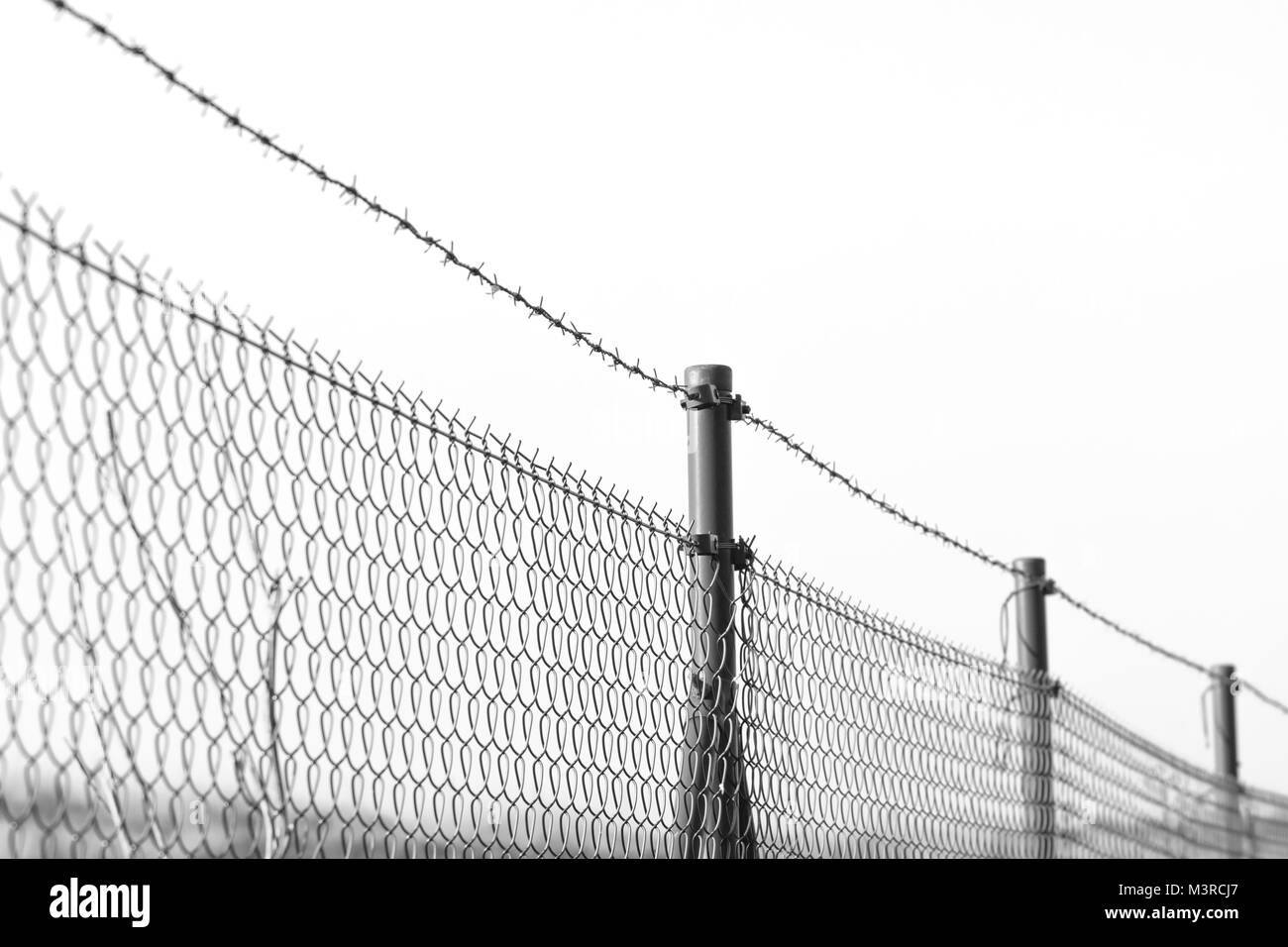 Barrier Barbed Wire Fence Stock Photos & Barrier Barbed Wire Fence ...