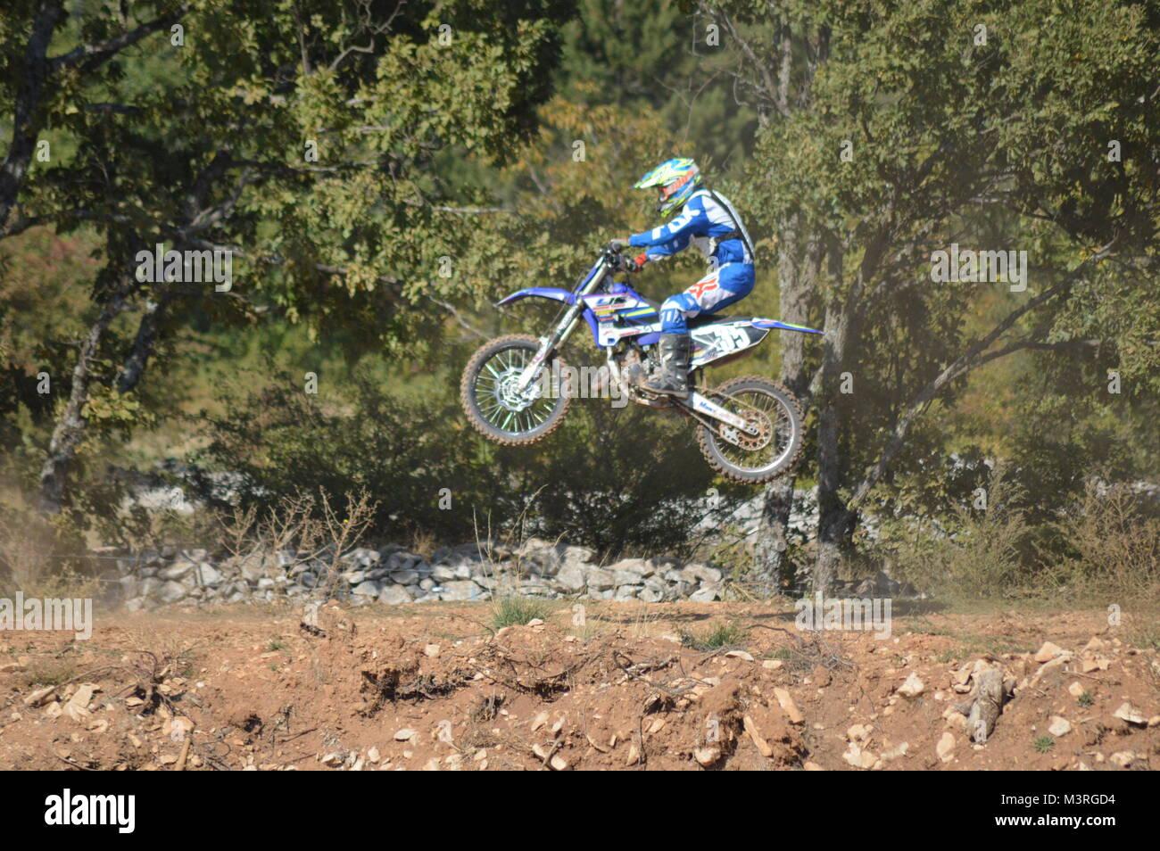 Motocross race - Stock Image
