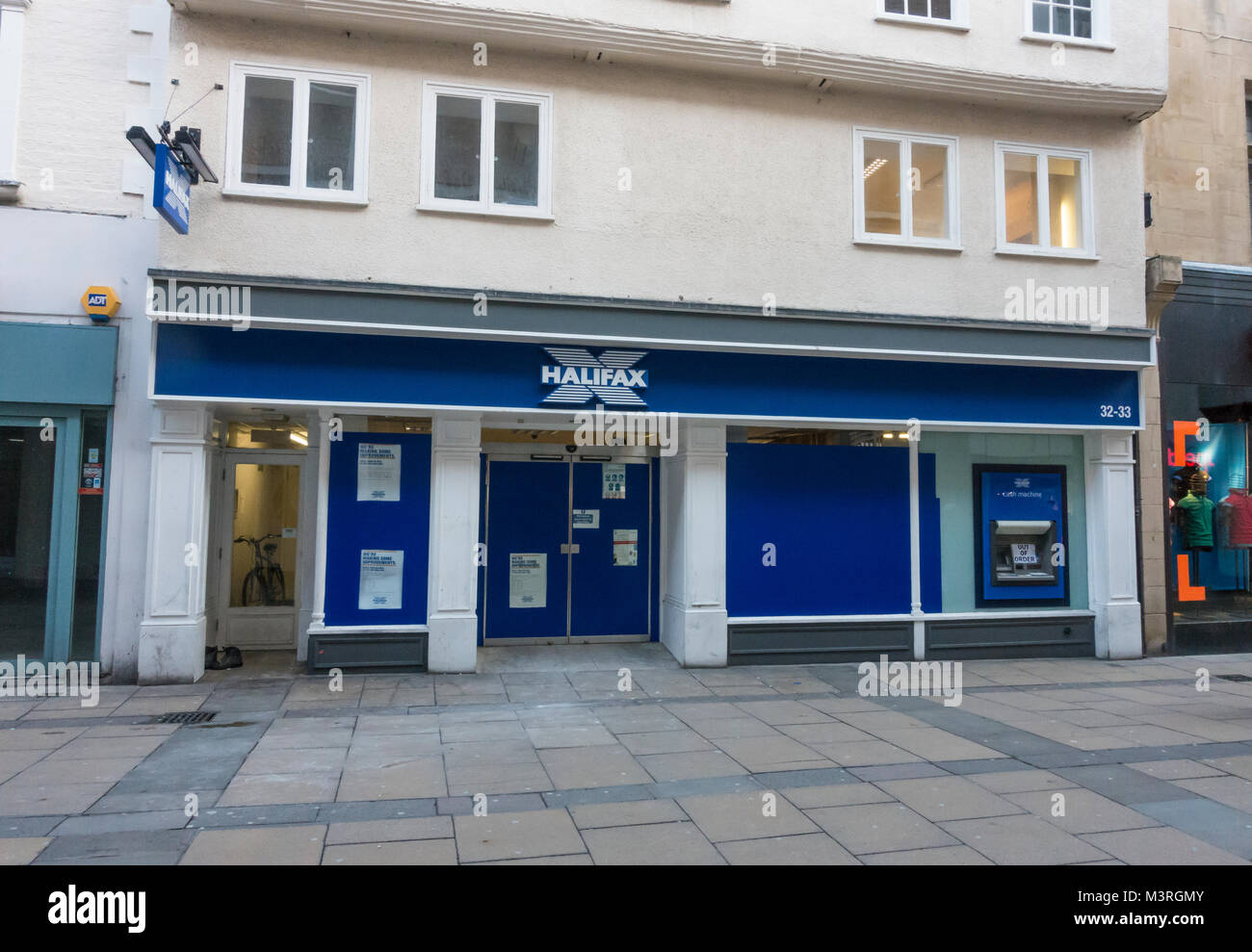 Halifax bank Cambridge office closed for refurbishment 2018 - Stock Image