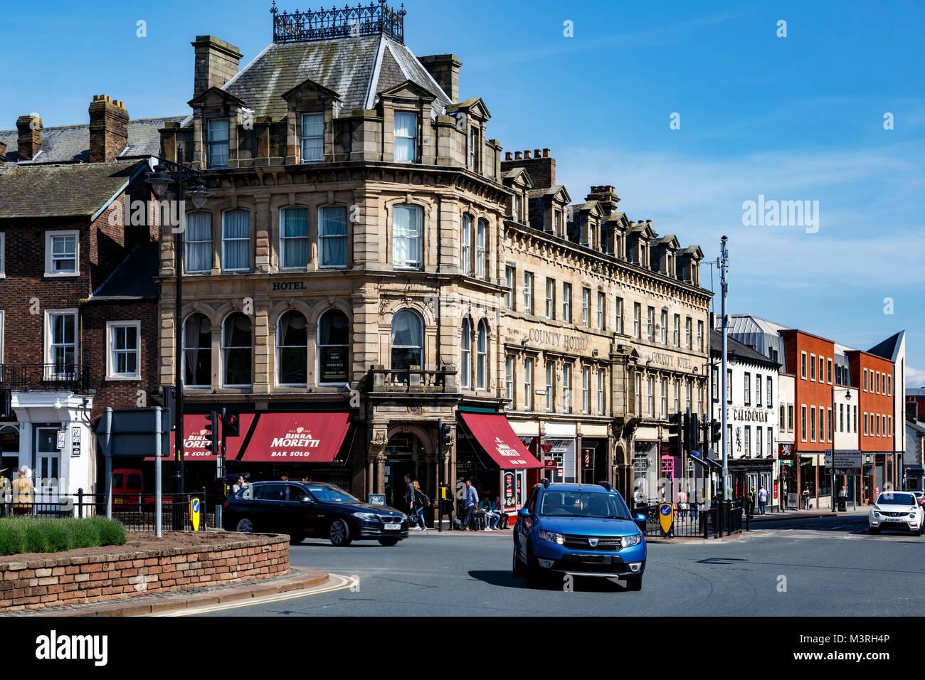 Botchergate Street, Carlisle, Cumbria, England, United Kingdom - Stock Image
