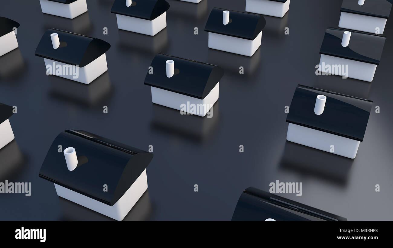 Row of houses, for real estate - Stock Image