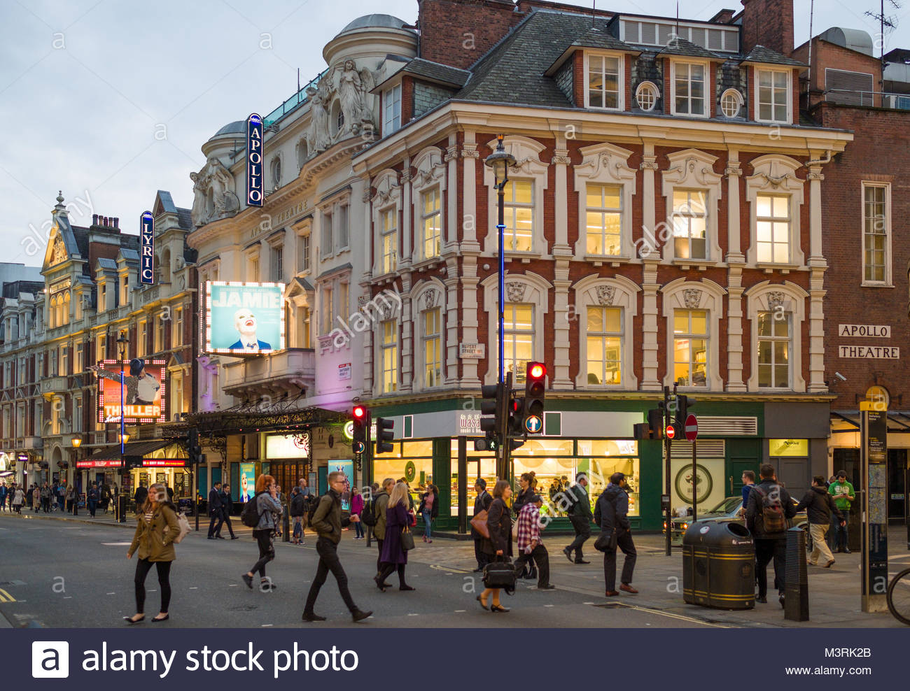 Apollo Theatre, Shaftesbury Avenue, City of Westminster, London, England, United Kingdom - Stock Image