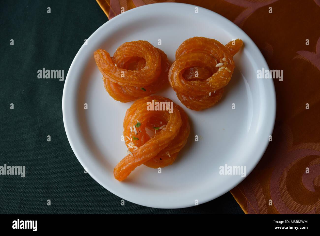 Paneer Jalebi Sweet, kasauli, himachal pradesh, India, Asia - Stock Image