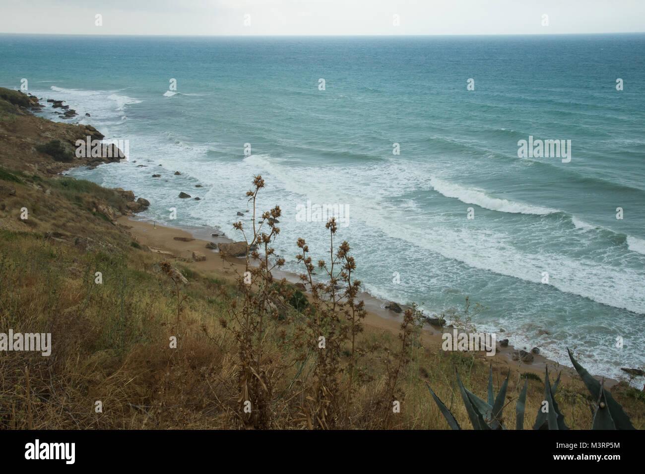 The nature of Calabria - Curmo beach - Stock Image