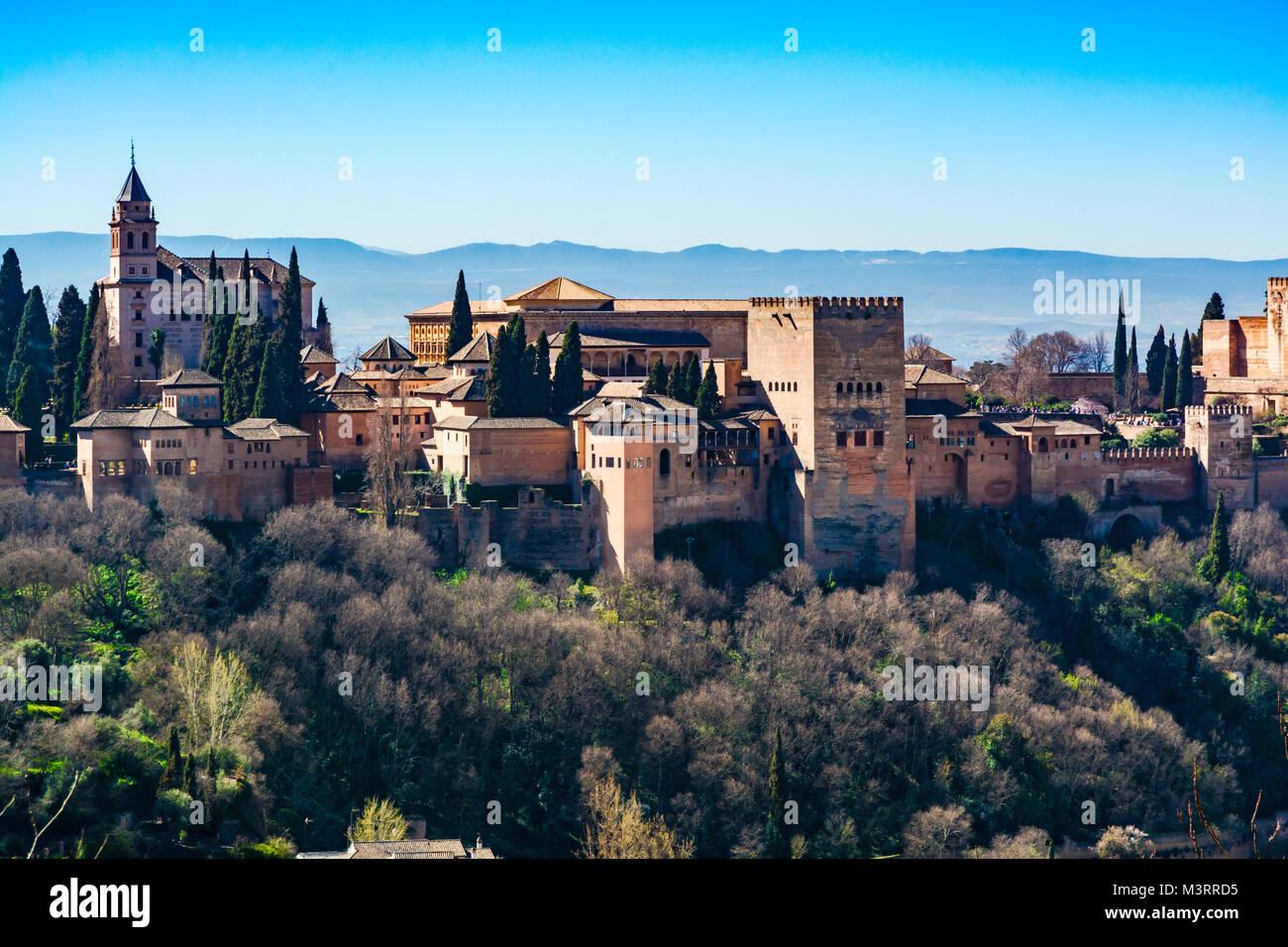 Granada, Spain: Alhambra palace and fortress complex. - Stock Image