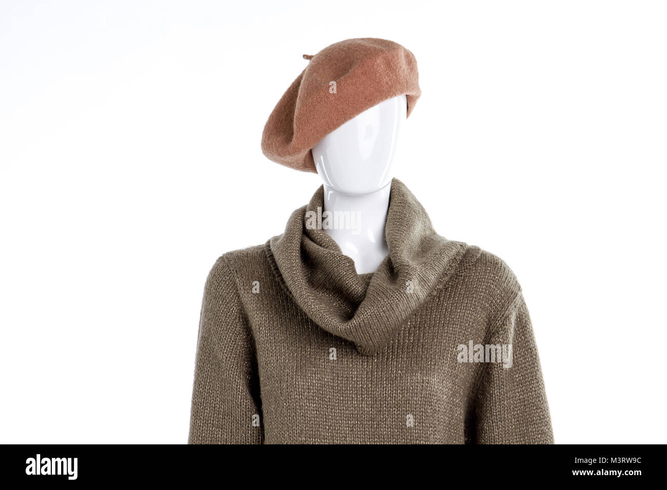 b3d253fd8ad18 French beret on female mannequin. Denys Kovtun   Alamy Stock Photo