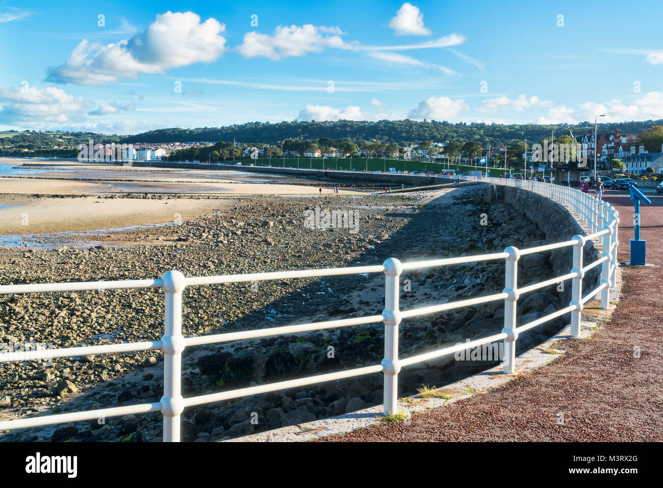 Promenade  Rhos on Sea, Colwyn Bay, seafront, north Wales, UK - Stock Image