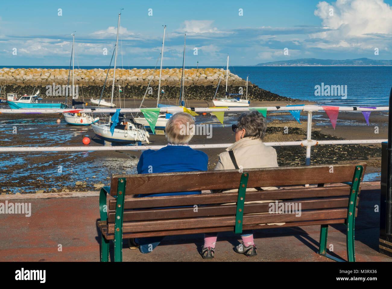 Promenade, Rhos on Sea, Colwyn Bay, seafront, north Wales, UK - Stock Image