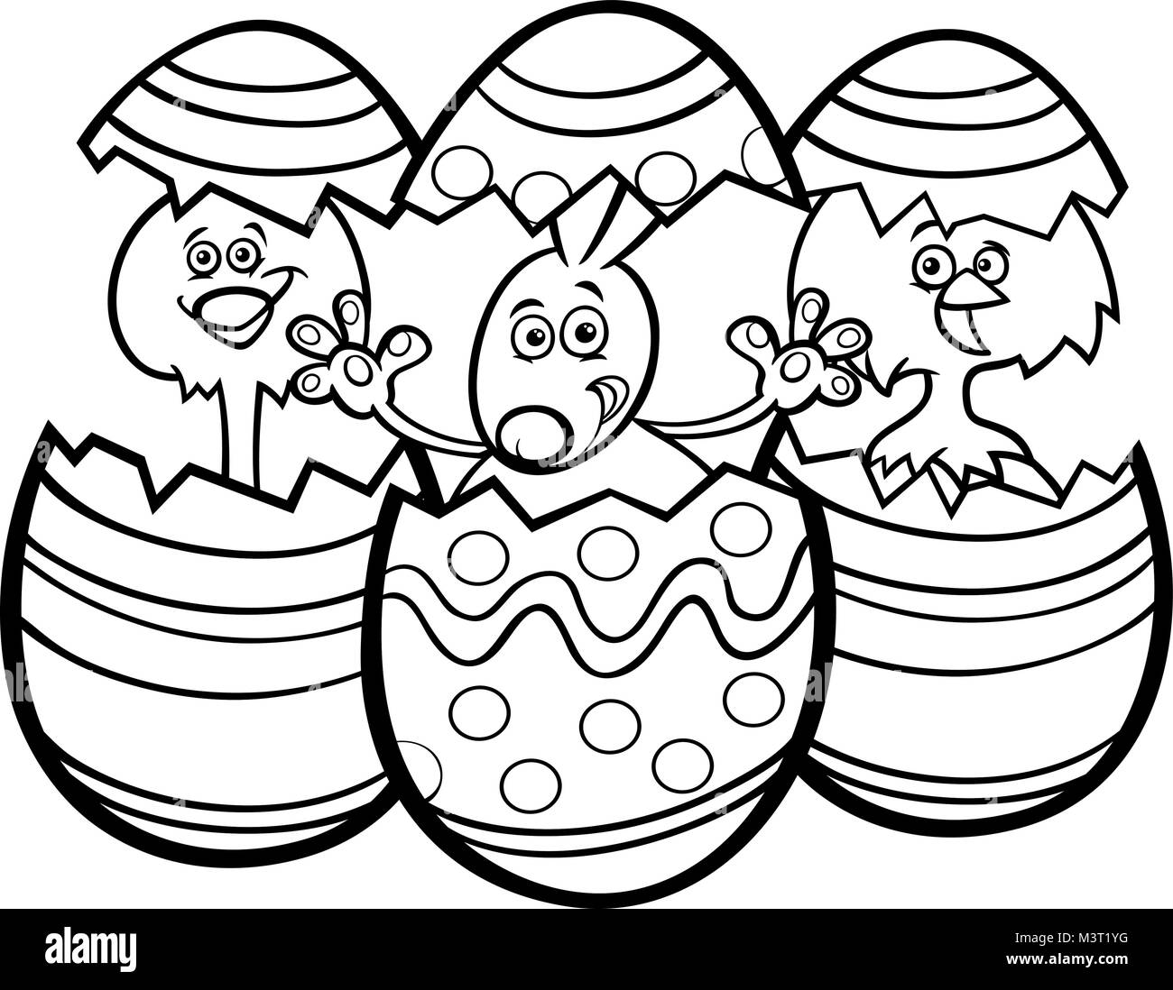 Easter Bunny Clip Art Black and White