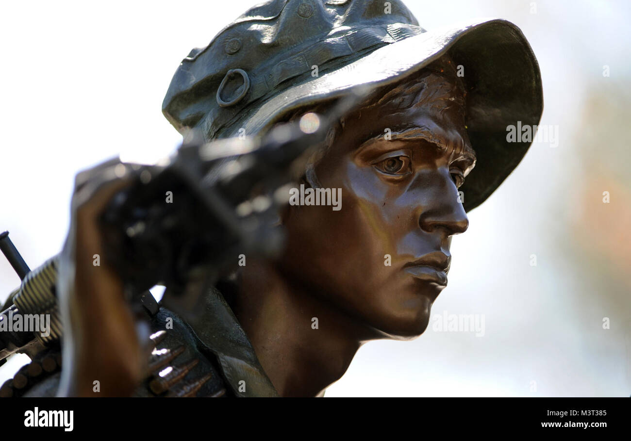 The Three Servicemen (Sometimes called The Three Soldiers) statue located on the National Mall in Washington D.C. Stock Photo