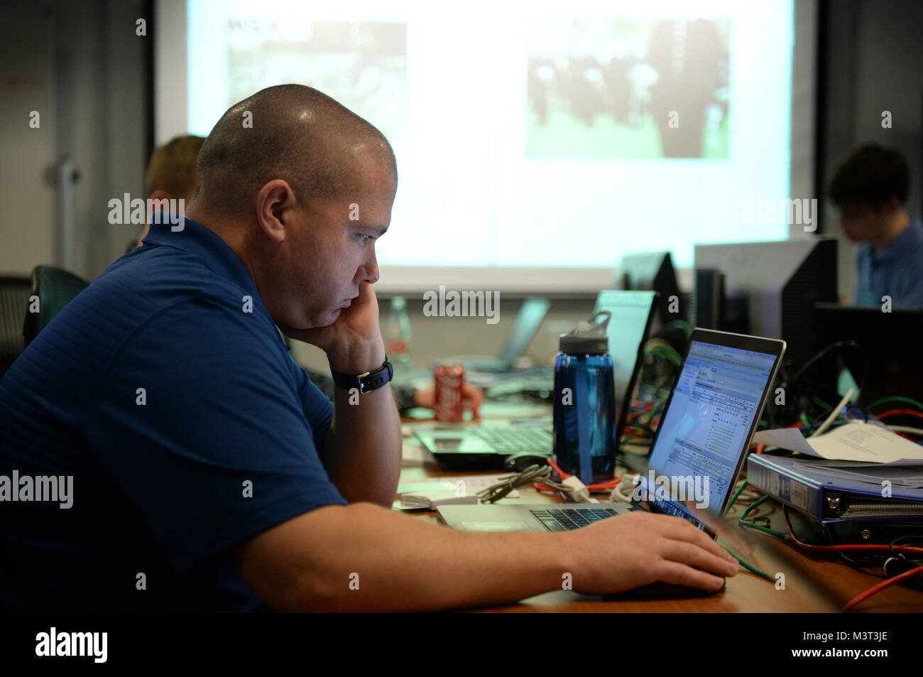 Cyber Defense Exercise Red Cell operations at the Parsons Building located in Columbia, Maryland.  The National Stock Photo