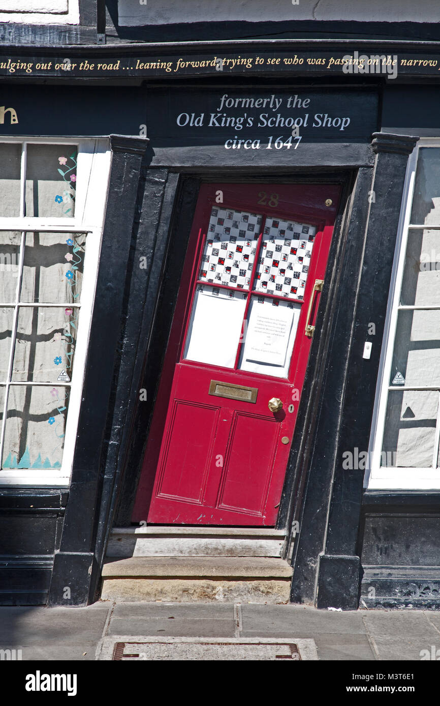 Sir John Boys House, also known as Crooked House, King's Gallery, or Old Kings Shop, Canterbury, Kent, UK. A - Stock Image