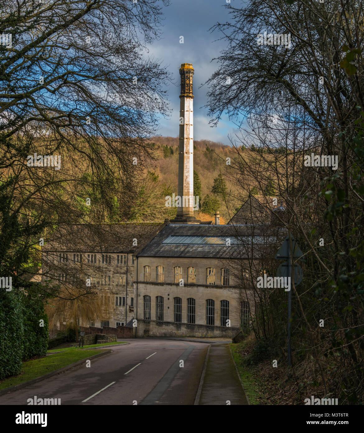 Longford Mills, Nailsworth, Gloucestershire, UK - Stock Image