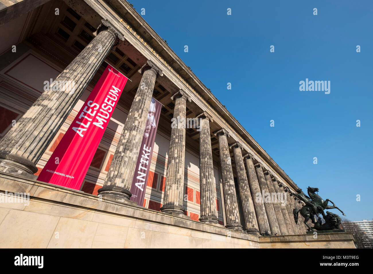 exterior view of Altes Museum on Museum Island, Museumsinsel , in Mitte, Berlin, Germany - Stock Image