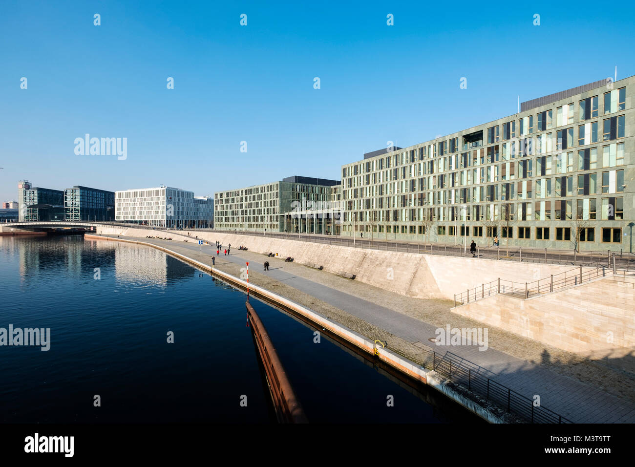 View of Federal Ministry of Education and Research (Bundesministerium fŸr Bildung und Forschung) on Kapelle Ufer - Stock Image