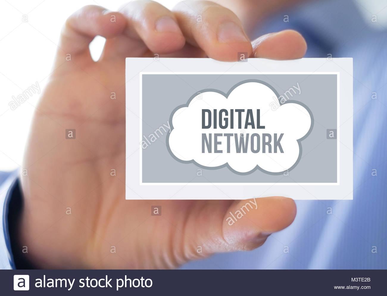 Digital Network - online mobility - Stock Image