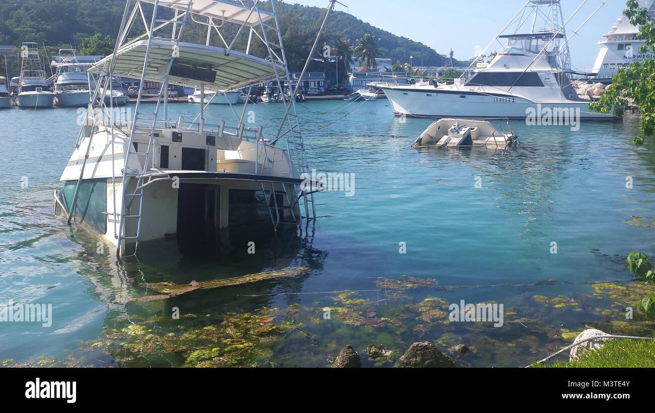 Shipwrecks in Ocho Rios, Jamaica - Stock Image
