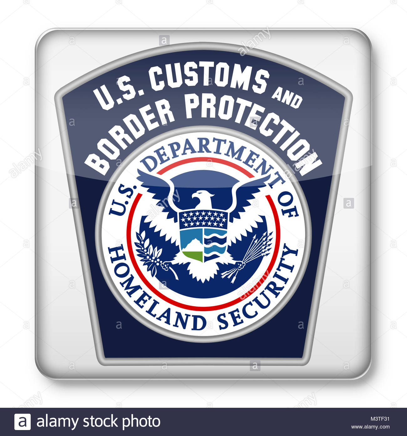 U.S. Customs and Border Protection CBP logo icon - Stock Image