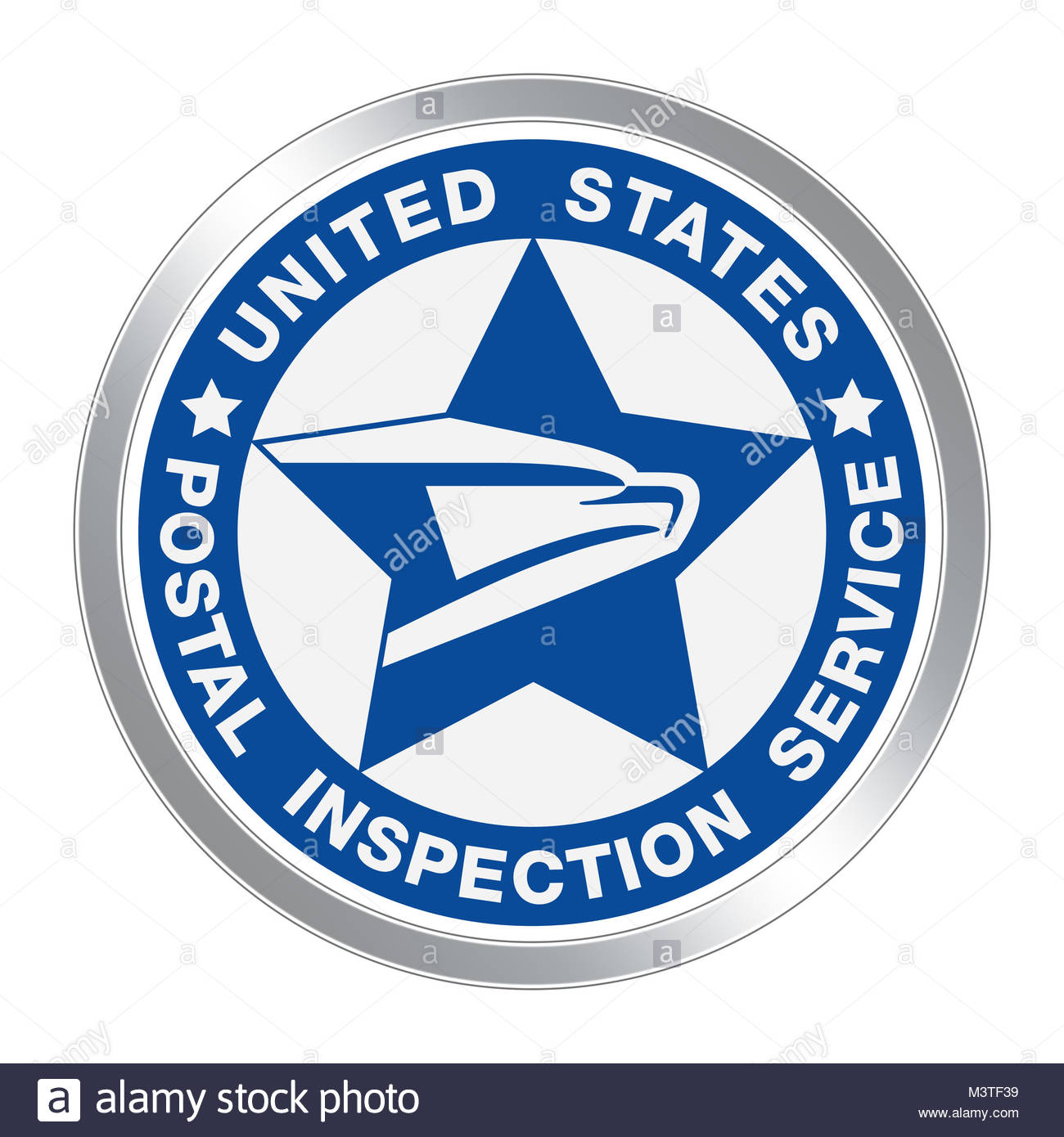 United States Postal Inspection Service USPIS icon logo button - Stock Image