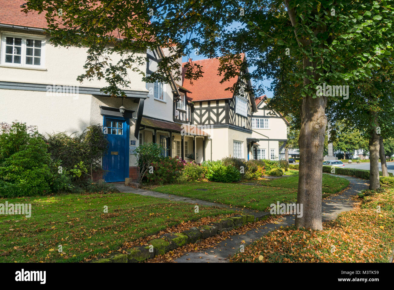 Workers houses, Port Sunlight, Bebington, Wirral, Merseyside, UK - Stock Image