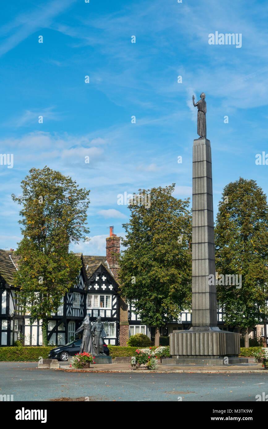 Workers houses, monument,  Port Sunlight, Bebington, Wirral, Merseyside, UK - Stock Image