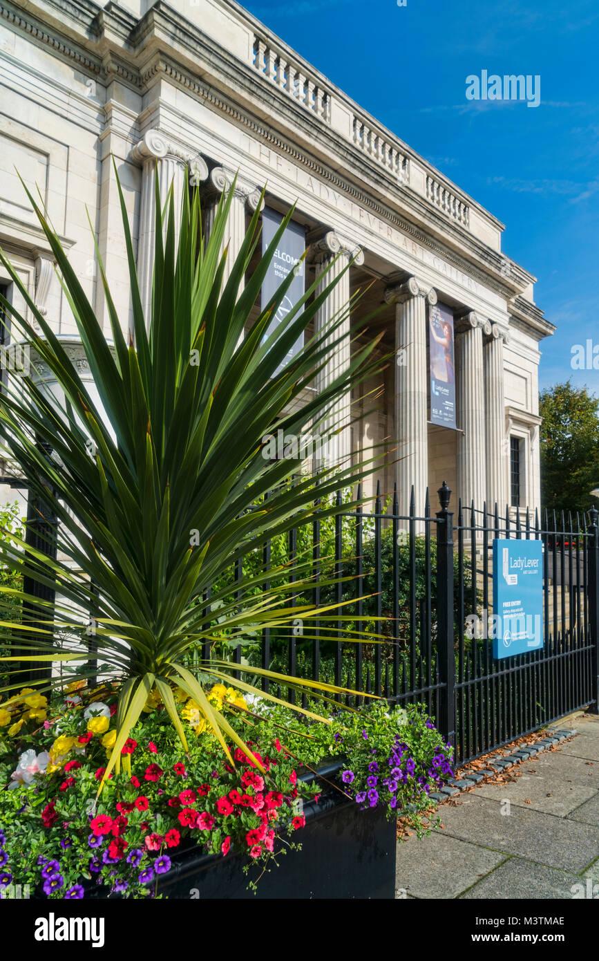 Lady Lever art gallery,  Port Sunlight, Bebington, Wirral, Merseyside, UK - Stock Image