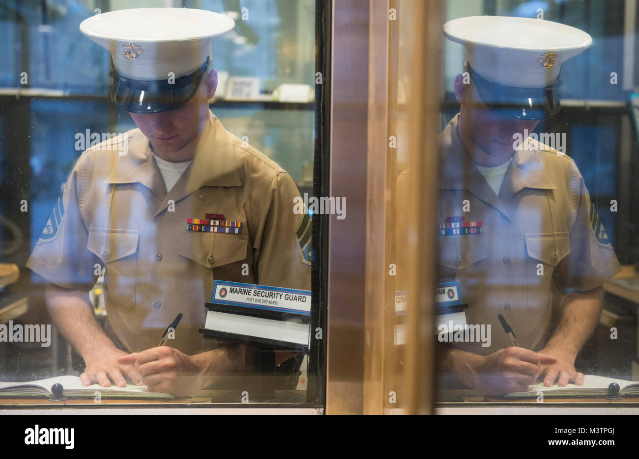 U S  Marine SSgt  Joshua Rice, a Marine Security Guard
