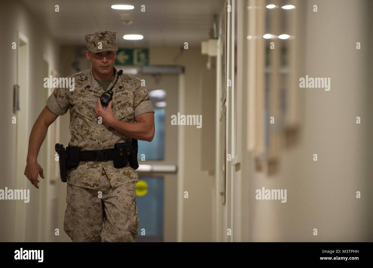 u s marine sgt jon montoto a marine security guard patrols a hallway within the us embassy in madrid spain on september 13 2016