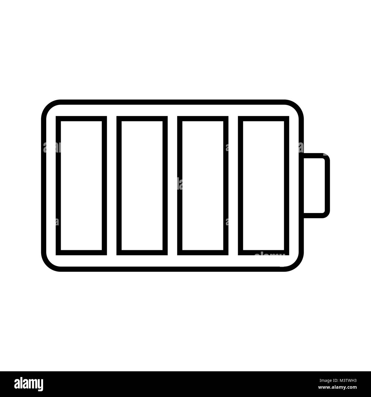 White battery icon - Stock Image