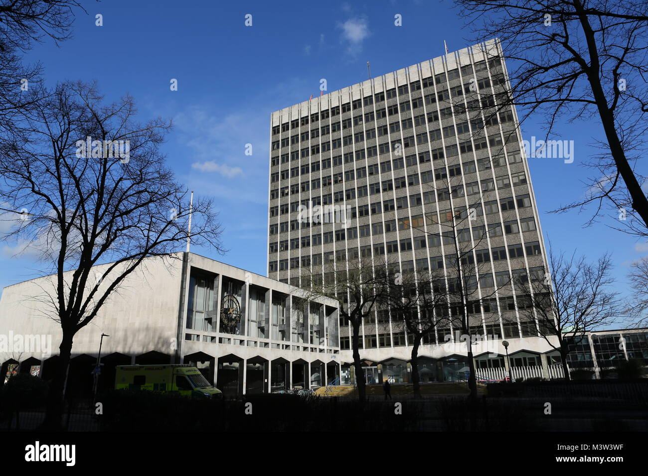 Southend-on-Sea Borough Council offices in Victoria Avenue. - Stock Image