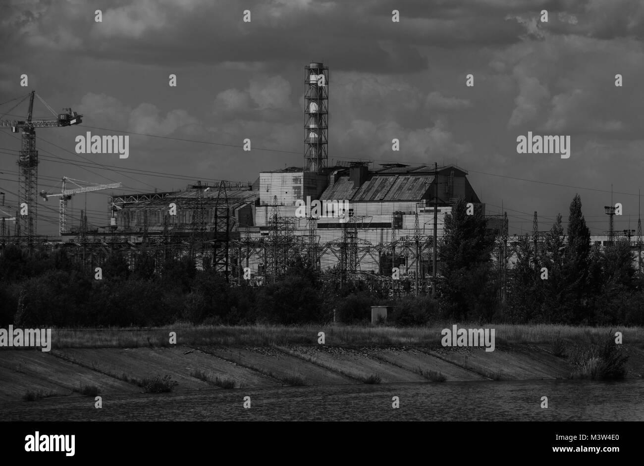 Chernobyl Pripyat taken in 2015 - Stock Image