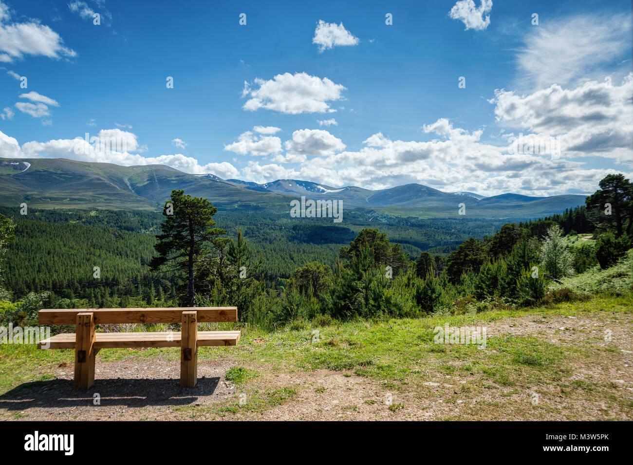 Cairngorms National Park Glenmore Forest Park United Kingdom taken in 2015 Stock Photo