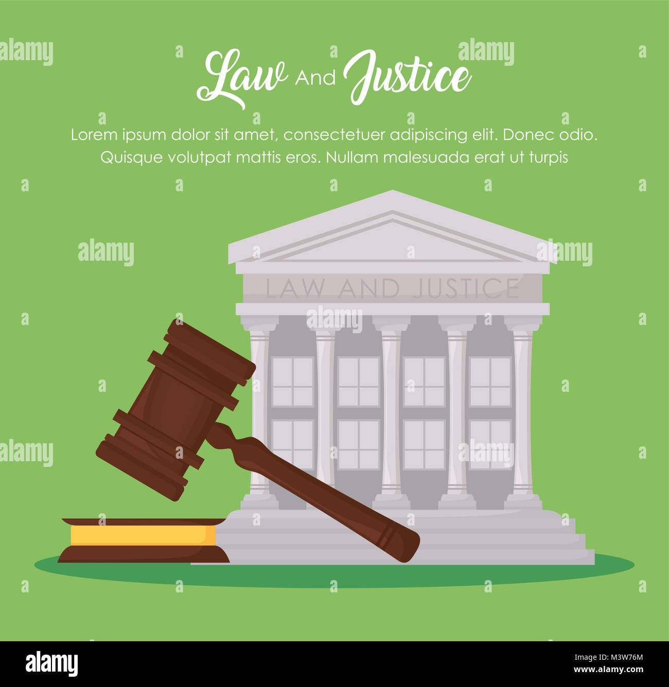 Law and justice design - Stock Vector
