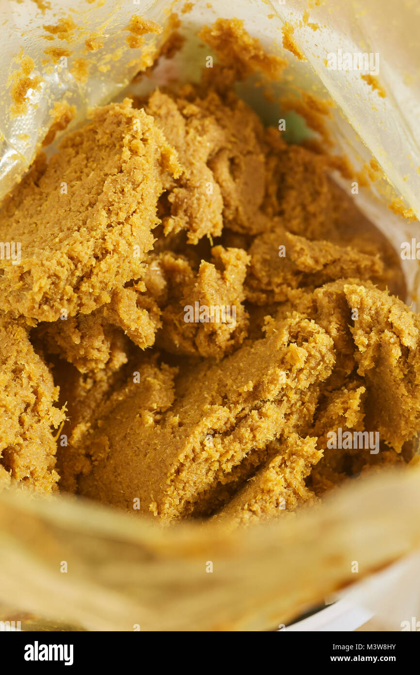 Thai green curry paste - Stock Image