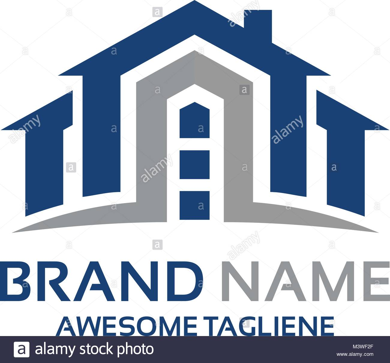 A perfect logo for any online-based real estate agencies, or even companies that deal with building houses. - Stock Vector