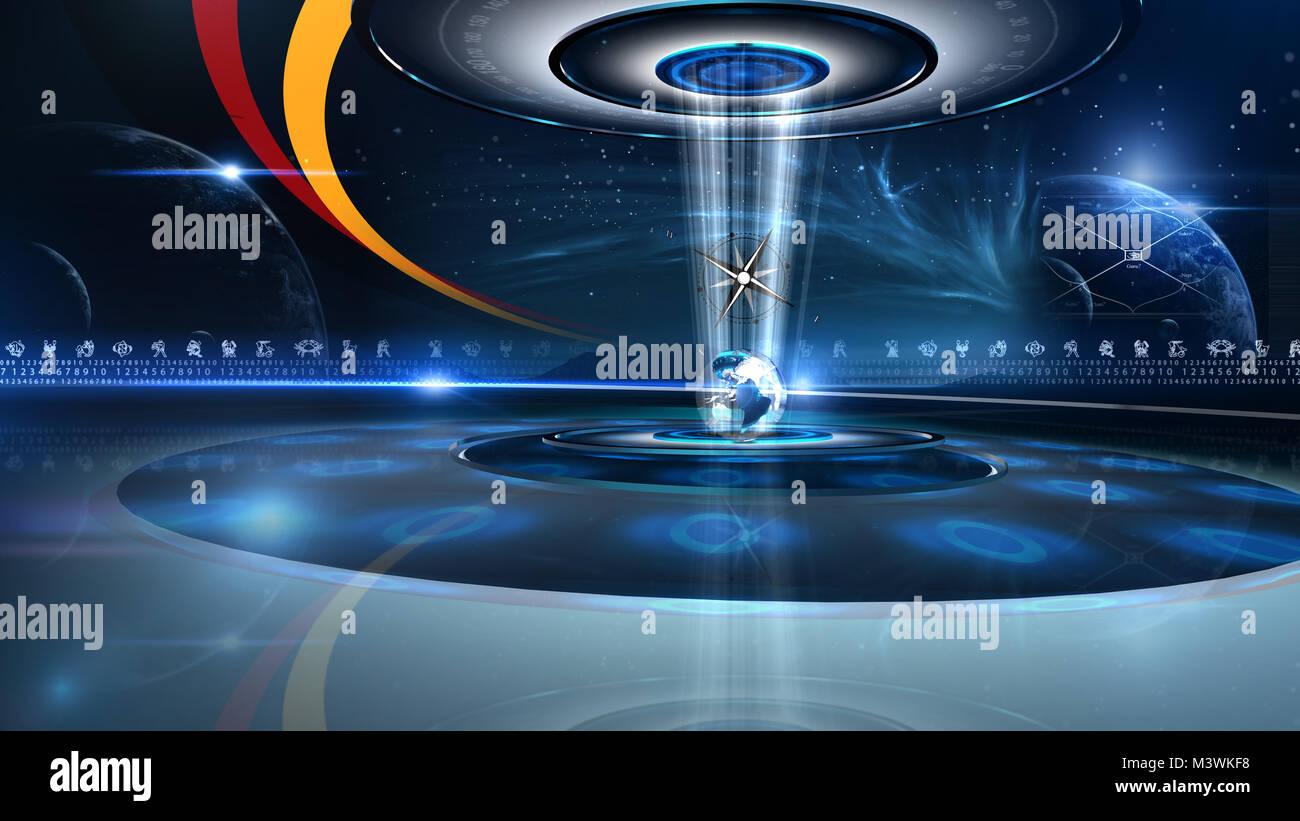 Astrology Virtual Studio Virtual set studio for green footage
