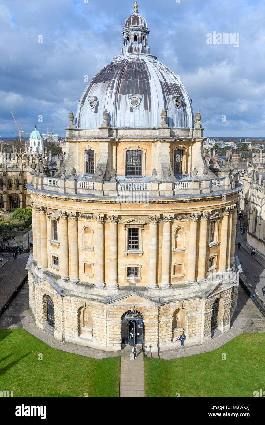 The Sheldonian three storey domed round library at the university of Oxford, England. Stock Photo