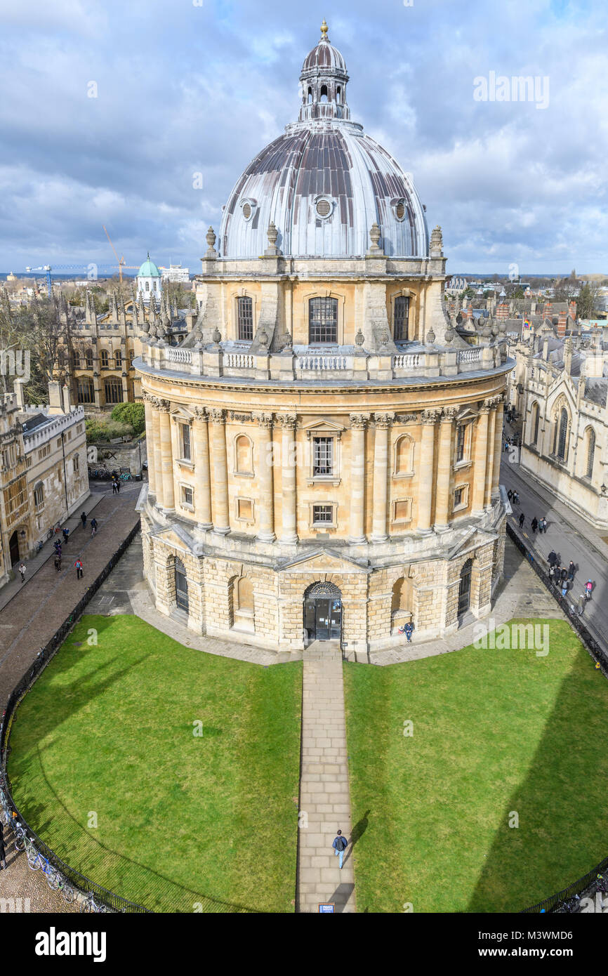 The Sheldonian three storey domed round library at the university of Oxford, England. - Stock Image