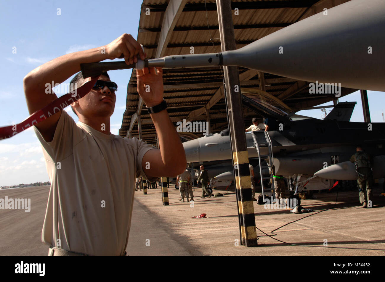 U.S. Air Force Airman 1st Class Antonio Garza, 113th Fighter Wing District of Colombia Air National Guard Washington, - Stock Image