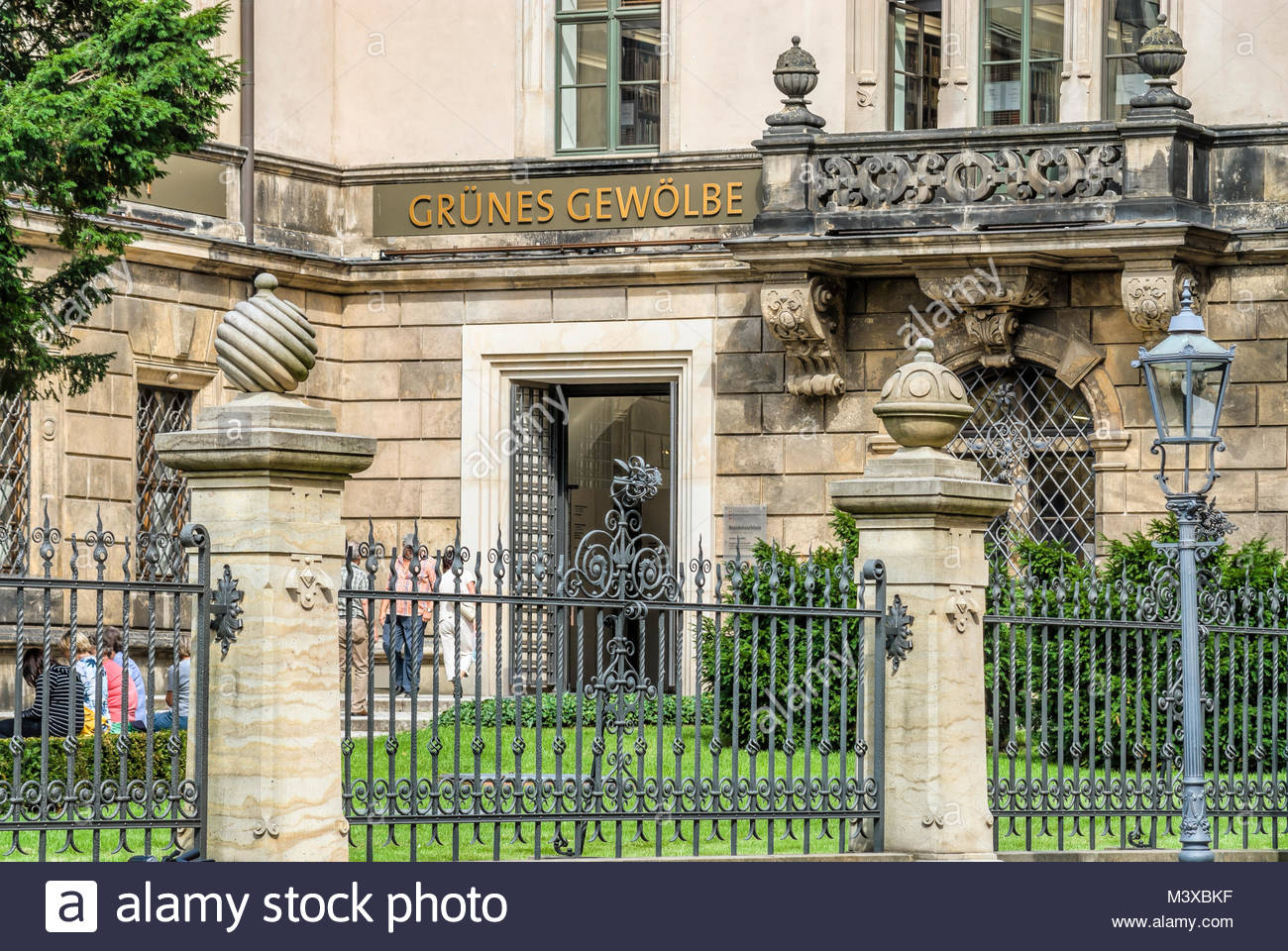 Grünes Gewölbe (Green Vault) in Dresden, Germany is a museum that contains the largest collection of treasures - Stock Image