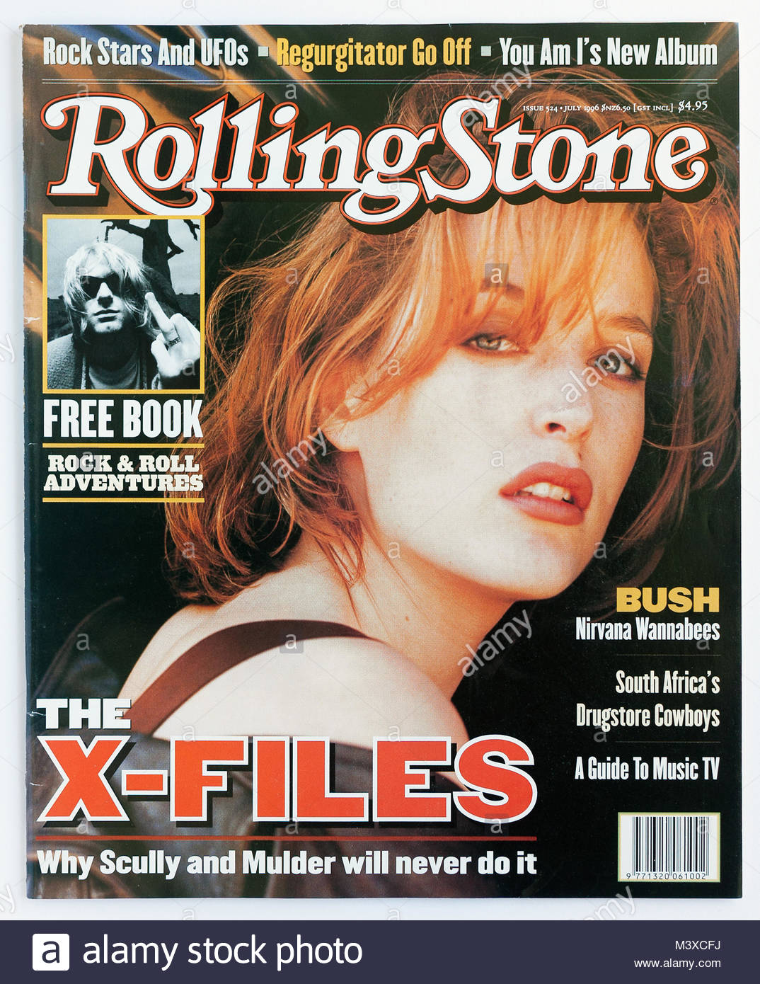 The cover of Rolling Stone magazine, issue 524, Gillian Anderson - Stock Image