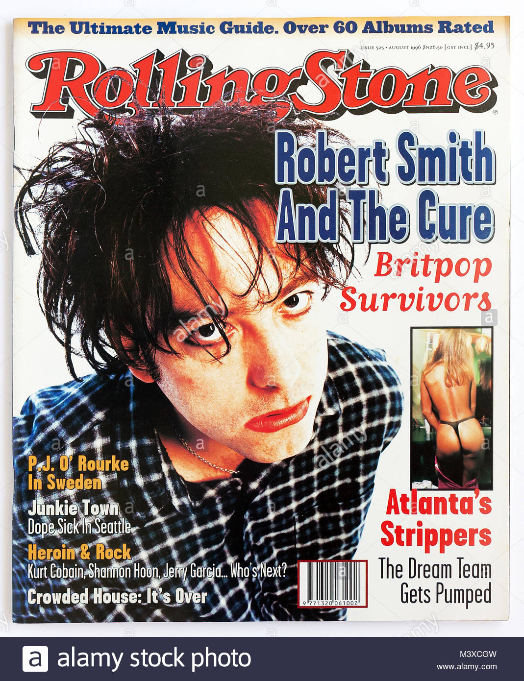 The cover of Rolling Stone magazine, issue 525, Robert Smith from The Cure - Stock Image