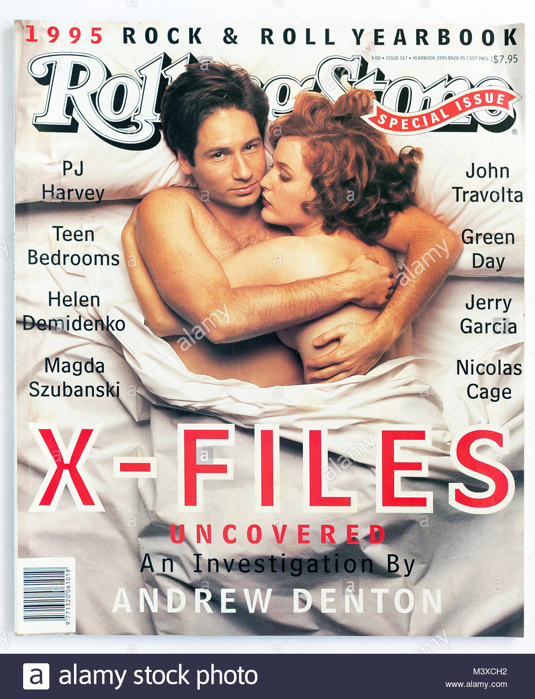 The cover of Rolling Stone magazine, 1995 Yearbook, the X-Files - Stock Image